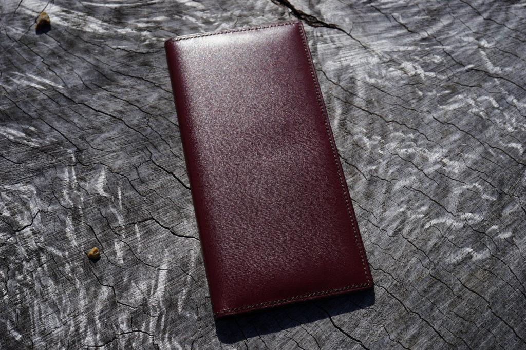 藤井鞄店の長財布、ボックスカーフ